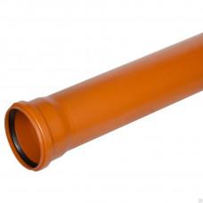 Труба канализационная раструбная 110*1500 (наружная)