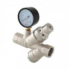 Редуктор давления с фильтром и манометром VALTEC от 2 до 5 бар 1/2