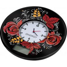 Весы кухонные электрические ENERGY EN-427 7 кг, черные с часами