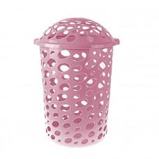 Корзина для белья 45 л Сорренто розовая 631833