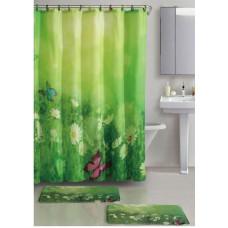 Набор для ванной комнаты Лето 3 предмета(Два коврика+занавеска)