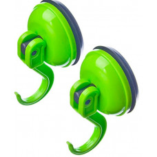 Набор крючков Мэджик 2шт, пластик, вакуумное крепление, 6*3,5*3,5, зелен,GL8503B (542-078)