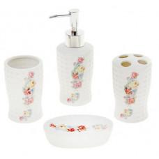 Набор для ванной Розовый букет, 4 предмета /870318