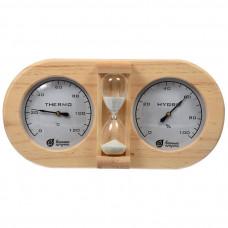 Термометр с гигрометром Банная станция 24,5*13,5*3см