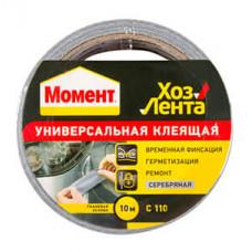 Лента Момент 10м универсал.клеящая (серебряная) C110
