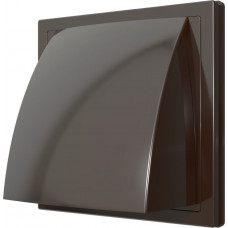 Выход стеновой вытяжной с обрат. клапаном 150х150 с фланц.D100 ASA 1515К10ФВ кор