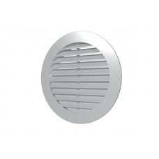 Решетка наружная вентиляционная круглая D200 с фланцем D150 ASA 15РКН сер