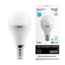 Лампа Gauss LED Elementary Globe 6W E14