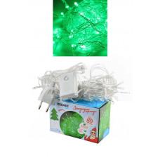 Гирлянда светодиодная КОСМОС 80, зеленый, 8,8м, 8 режимов мигания
