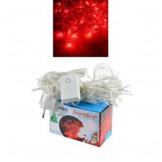 Гирлянда светодиодная КОСМОС 80, красный, 8,8м, 8 режимов мигания