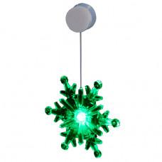 Светильник декоративный снежинка, присоска на стекло KOCNL-SL112