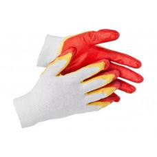 Перчатки STAYER , 13 класс, х/б двойная обливная ладонь  L-XL