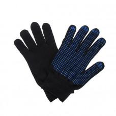 Перчатки х/б 10класс 4 нити черные точка