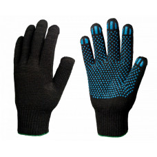 Перчатки х/б 7,5 класс 7 нитей точка черные