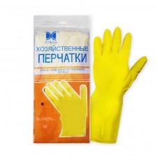 Перчатки хозяйственные латексные М