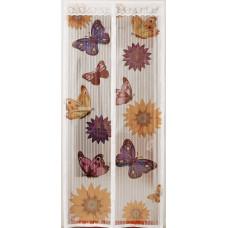 Сетка антимоскитная на магнитах Капутомоскито Бабочки цвет белый