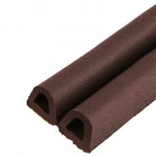 Уплотнитель тип D 50м 9*8мм коричневый (двойной )1м