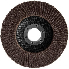 Круг шлифовальный ЗУБР Эксперт лепест торц, тип КЛТ 1, зерно-электрокорунд норм. Р60 125х22,2мм