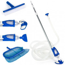 Набор для очистки бассейнов (сачок,щетка,2 вакумные насадки, калба-фильтр,шланг,ручка) Intex (28003