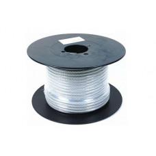 Трос металлический в изоляции ПВХ d-4/5,бухта 200м.