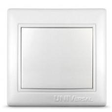 Выключатель одноклавишный UNIVersal,сер.Севиль,с/у,10А,220В,бел.,еврослот С0021