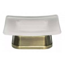 Мыльница К-5529 матовое стекло, светлая бронза WasserKRAFT