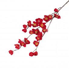 Цветок искуственный Ветка сакуры 3*80см, красная