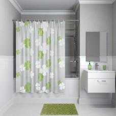 Шторка для ванной комнаты,180*180см,полиэстер, PEVA,  IDDIS