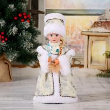 Снегурочка 28см с кристаллом, белая
