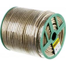 Трос стальной STAYER в полимерный в оболочке d=4.0 мм L-100