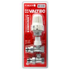 Комплект терм.оборудования д/радиатора, прям. 1/2 VALTEС (терм. головка, терм.клапан,запорн.клапан)