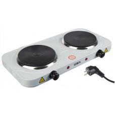 Плитка LEBEN электрическая двухконфорочная 2000Вт нагр. эл. диск d15,5см