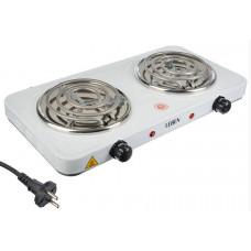 Плитка LEBEN электрическая двухконфорочная 2000Вт нагр. эл. спираль d14cм, F011