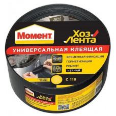Лента Момент 10м (черная) 0329