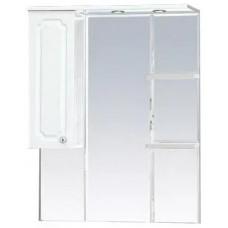 Шкаф-зеркало правый Александра-75 (свет) белый