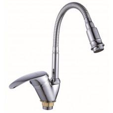 Смеситель ЭВЕРЕСТ однорычажный  для кухни с гибким изливом и возможностью регулировки изливом