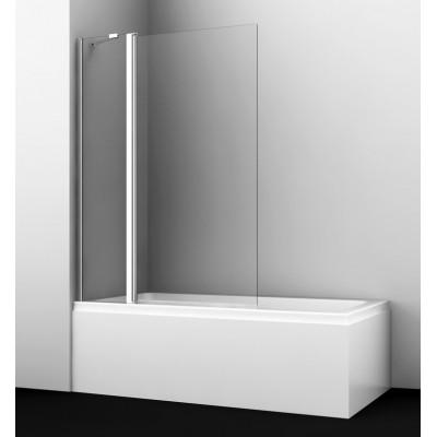 Шторка стеклянная на ванную Berkel FIXED,1100*1400, двустворчатая распашная универсальная