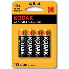 Батарея KODAK LR6-4BL XTRALIFE  (KAA-4)