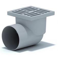Трап АНИ ТА1110 горизонтальный с выпуском 110 c решеткой из пластика 15х15