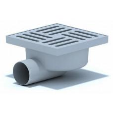 Трап АНИ TA5110 горизонтальный выпуск 50 решетка пластик 150х150