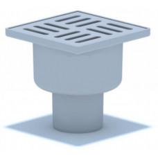 Трап АНИ TA5204 вертикальный выпуск 50 с решеткой из пластика 10х10