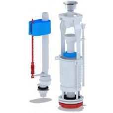 Набор с нижней подводкой 1 1/2 пластик двойная кнопка, хром., эконом