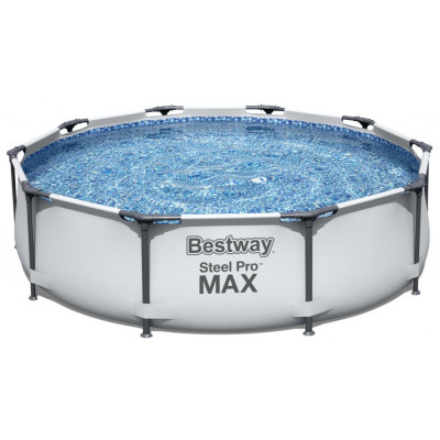 Бассейн каркасный круглый 305*76 см  фильтр-насос 1249 л/ч Steel Pro MAX Bestway (56408)