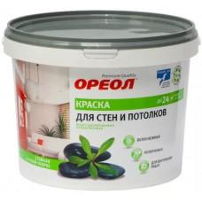 Краска Ореол белоснежная для потолка 3 кг