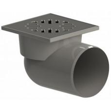 Трап канализационный Ду 110 (реш 15х15 пласт), горизонтальный