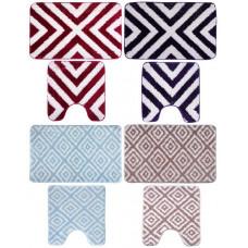 Набор коврик для ванны VETTA микрофибра, 45x70см   45x45см, Азимут, 4 цвета