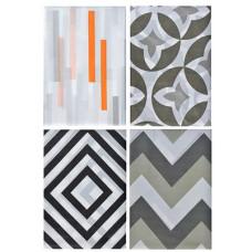 Набор коврик для ванны VETTA полиэстер (микрофибра), 180x180см, Геометрия , 4 дизайна