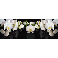УЦЕНКА Кухонный фартук Белая орхидея 2070*695*3мм 1443307