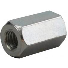 Гайка соединительная М6 цинк, DIN 6334