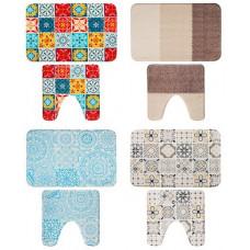 Набор коврик для ванны Vetta микрофибра, 45x70см   45x45см, Восточная сказка, 4 цвета